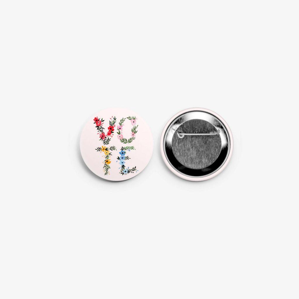 Voting Merchandise –Vote Pin